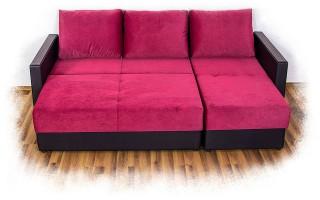 Угловой диван «Леон 2» с оттоманкой