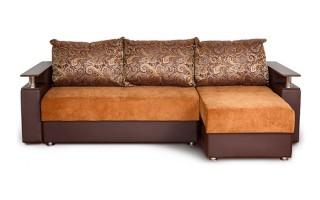 Угловой диван «Мальта» с оттоманкой