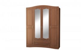 "Шкаф 4-х дверный с зеркалом ""Виола 2 Браун"""