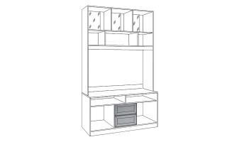 """Шкаф-витрина средний """"Флорида 1"""" 501/02"""