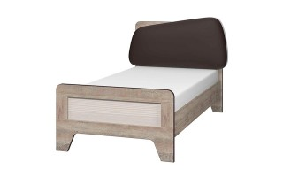 """Кровать 900 """"Тайм"""" с мягким элементом и настилом"""